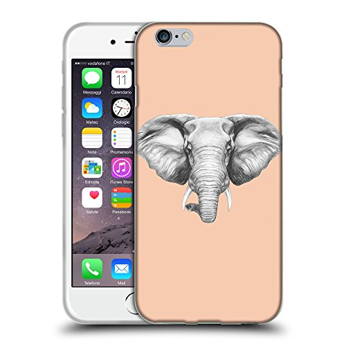 GoGoMobile Coque de Protection TPU Silicone Case pour // Q05130604 Dessin éléphant Abricot // Apple iPhone 6 PLUS 5.5""