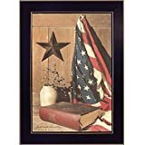 Trendy Decor4U ''God and Country'' By Billy Jacobs, Printed Wall Art, Ready To Hang Framed Poster, Black Frame