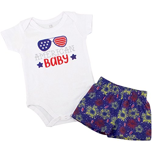 Unique Baby Boys American Baby 1st 4th of July Layette Set (12 Months, Boy)