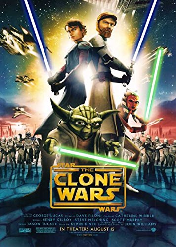 Star Wars: The Clone Wars 2008 S/S Movie Poster 11.5x17
