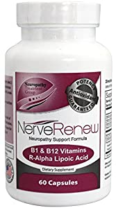 All-Natural Neuropathy Support Supplement with Stabilized R-Lipoic Acid - Absorbs Fast - Alternative Nerve Pain Treatment - 30 Day Supply (60 Count)