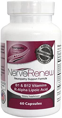 Life Renew: All-Natural Neuropathy Support Supplement with Stabilized R-Lipoic Acid - Absorbs Fast - Alternative Nerve Pain Treatment - 30 Day Supply (60 Count)