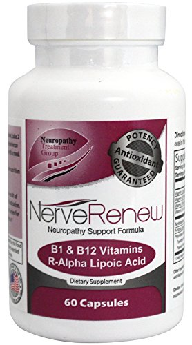 Life Renew: All-Natural Neuropathy Support Supplement with Stabilized R-Lipoic Acid - Absorbs Fast - Alternative Nerve Pain Treatment - 30 Day Supply (60 Count) (Best Treatment For Pinched Nerve In Back)