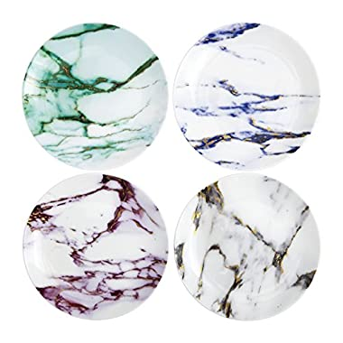 Prouna Marble Assorted Canape Plate, Set of 4