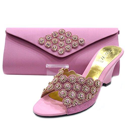 Wear & Walk UK - Sandalias de vestir de Satén para mujer Rosa - Tea Pink