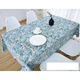 DW&HX Nordic Cotton Linen Table Cover Tablecloths Table Cloth Small Fresh Square Lattice Home Kitchen Easy Care Washable Tablecloth-T 2424in