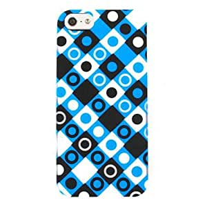 Cell Armor  Hybrid Case for iPhone 5 - Retail Packaging - Black, Blue and White Dots in Squares