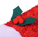 Hosaire Pet Dog Cat Xmas Santa Hat Collar with Bells,Christmas Costume Dress Christmas Collection Pet Costume Small