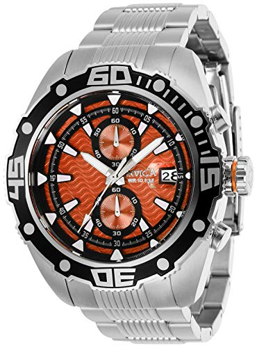 INVICTA Pro Diver Men 48mm Stainless Steel Stainless Steel Orange dial VD51B Quartz