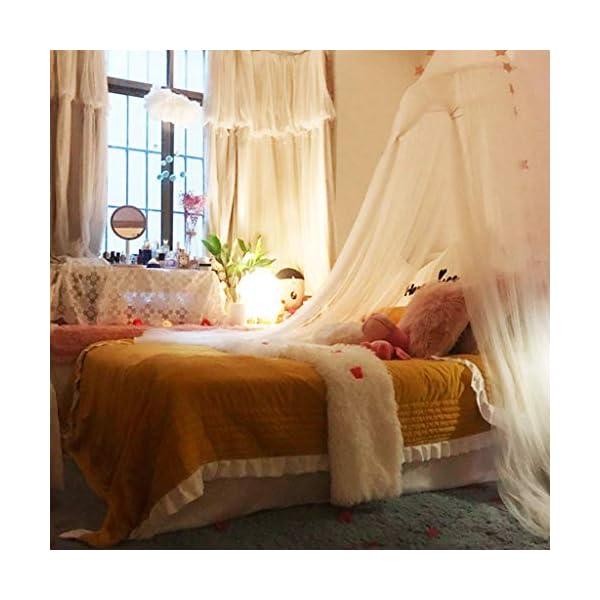 Bulawlly Letto a baldacchino per Letto Matrimoniale e Singolo, della Tenda Bianca Universale Dome zanzariera zanzara… 3 spesavip