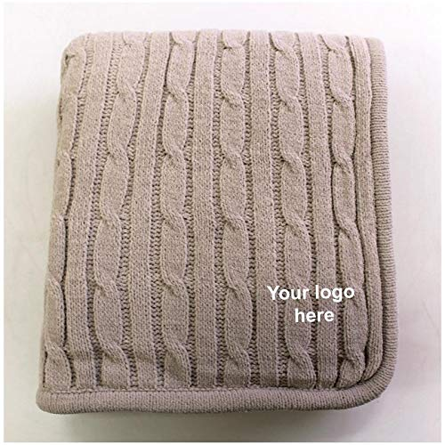 (Caden Concepts Cable Knit Lambswool Throw - Mocha - 24 Quantity - $47.96)