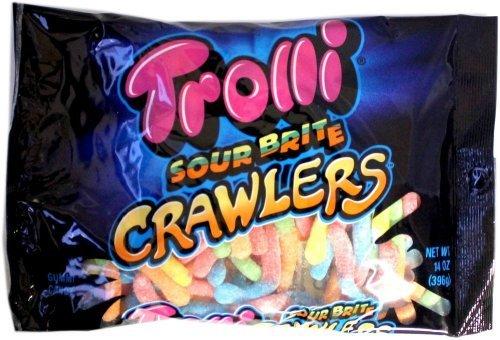 Trolli Sour Brite Crawlers Gummy Worms, 14 Oz (Pack of - Gummi Puffs Strawberry