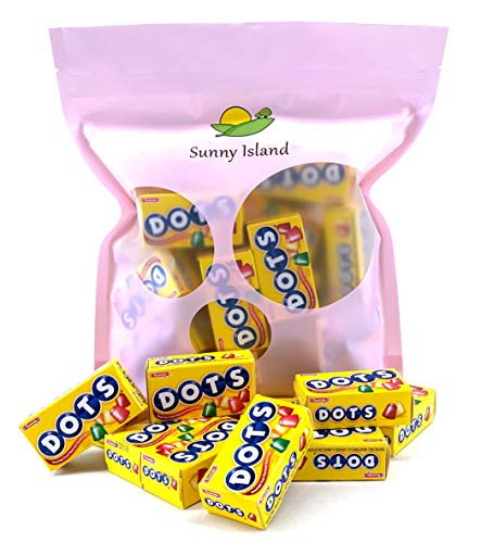 - Sunny Island Bulk - Dots Candy Mini Box Fruit Flavored, Kosher Candy by Tootsie, Gluten- Free, 50 Count Pack