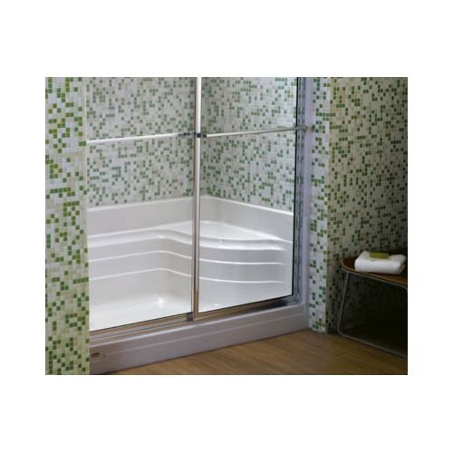 Jacuzzi N656959WH Bonaire Acrylic 60-Inch L by 32-Inch W by 21-1/2-Inch H Shower Base, White (Jacuzzi Shower Enclosures)