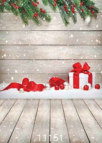 AIIKES 5X7FT Christmas Backdrops Backgrounds for Photography Wood Background Backdrop for Snowflakes(Suit for Photography) 11-151 …