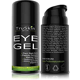 TruSkin Eye Gel Advanced Formula, Plant Based with Hyaluronic Acid and Vitamin E