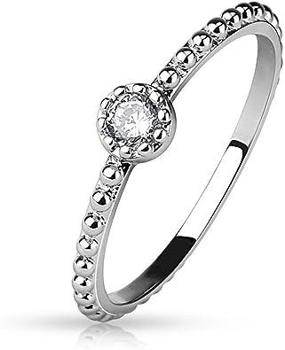 Fingerring Damenring schlank zart schmal silber versilbert 54 55 56 Gr.17 Ring