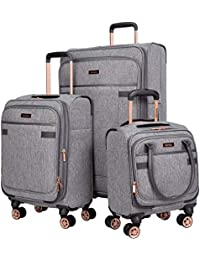 3 Piece Luggage Set, Heather Gray