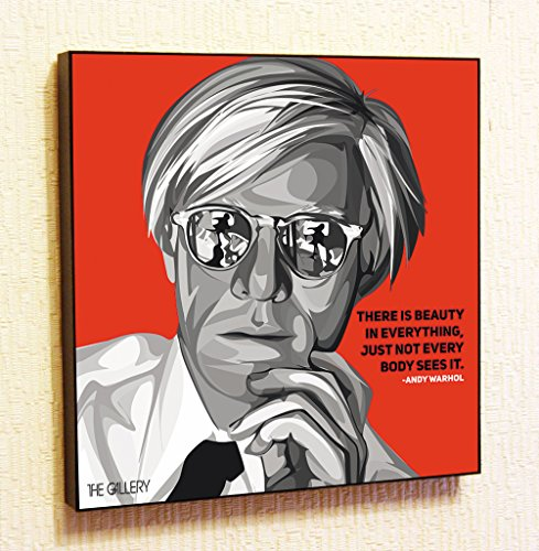 Andy Warhol Decor Motivational Quotes Wall Decals Pop Art Gifts Portrait Framed Famous Paintings on Acrylic Canvas Poster Prints Artwork Geek Decor (10x10