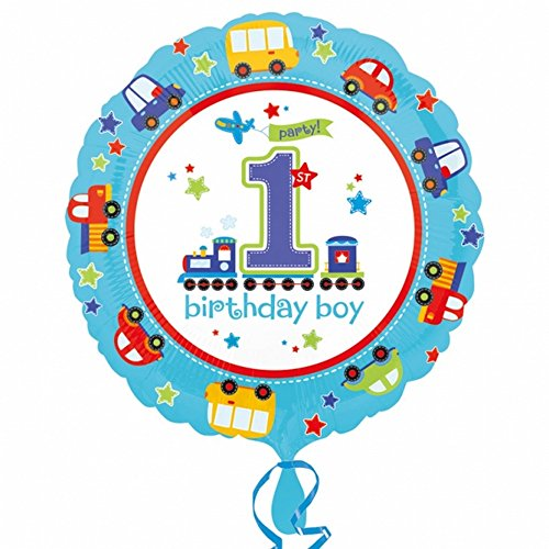 Amscan All Aboard/1st Birthday Foil Balloon (One Size) (1st Birthday Postage)