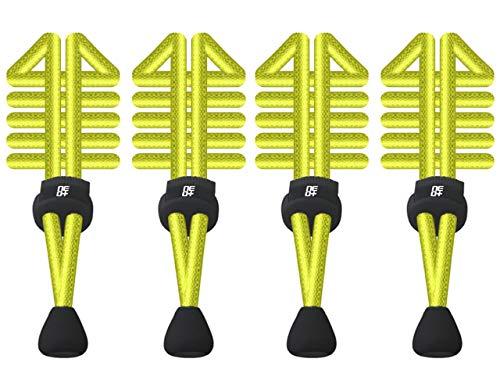 Triathlon Yellow Schnürsenkel rund 2 Laufen Sets für Elastische mit Schnellverschluss 6Rfdc6Yq