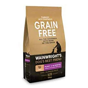 Wainwright S Puppy Grain Free Complete Turkey And Vegetable 10kg A