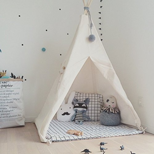 Mm Window (HAN-MM Kids Foldable Teepee Play Tent White One Four Ploes)