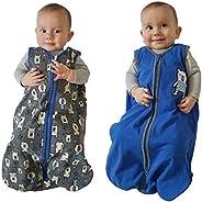 Gertex Snugabye - 100% Cotton Wearable Blanket, Size 12-18 Months, 2 Pack Blue