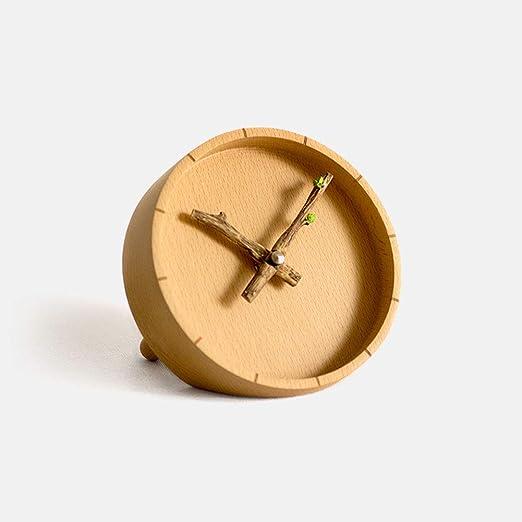 Li-lamp Mantel Clock, Simple Budding Pequeña Mesa Reloj Sala de ...
