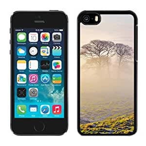 New Beautiful Custom Designed Cover Case For iPhone 5C With Lonely Tree In Mist Phone Case