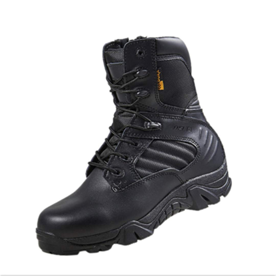 Outdoor Sports Tactical Military Boots For Camping Hiking Men's Combat Shoes Wear-Resistant Mountaineering Trekking Boot Black 8 by CNSDLK