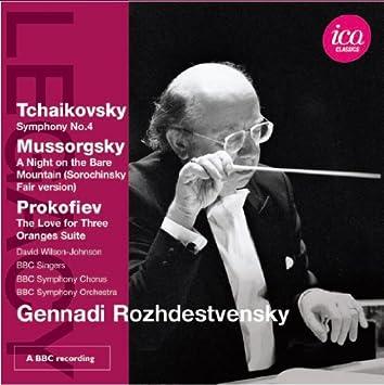 ゲンナジ・ロジェストヴェンスキー - チャイコフスキー:交響曲 第4番/プロコフィエフ:歌劇「3つのオレンジの恋」より組曲 他