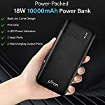 pTron Dynamo Pro 10000mAh 18W QC3.0 PD Power Bank, Made in India, Fast Charge, Type-C & Micro USB Input Ports, with 18W…
