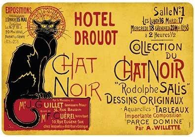 Set de mesa gato negro Rodolphe Salis Hotel Drouot 42 x 29 cm: Amazon.es: Hogar