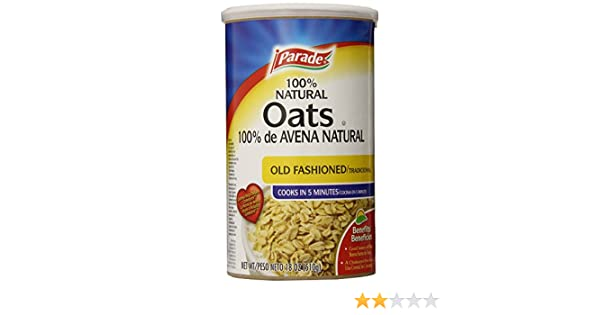 Amazon.com : Parade Old Fashioned Oats, 18 Ounce (Pack of 12) : Grocery & Gourmet Food