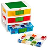 IRIS LEGO 3-Drawer Sorting System with 1 Large LEGO Building Base Plate and 4 Removable Divider Trays