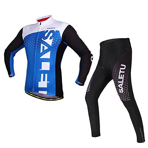 感じる文字作曲する春夏秋 メンズ サイクルジャージ 長袖 上下セット 自転車 サイクルウェア サイクルジャー サイクルジャージ 上下 男女兼用