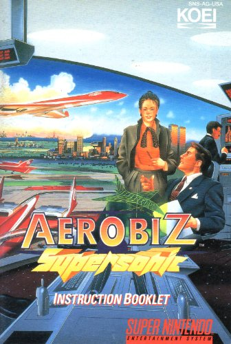 Aerobiz Supersonic SNES Instruction Booklet (Super Nintendo Manual Only) (Super Nintendo Manual)