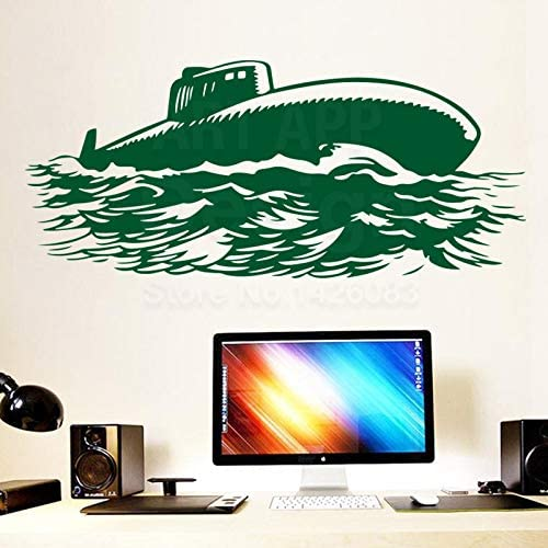 Dongwall Kunst Kreatives Design Wohnkultur Billig Vinyl Sea Submarine Wandaufkleber Bunte Haus Dekoration Cartoon Krieg Schiff Aufkleber In Rooms26 64 Cm Amazon De Kuche Haushalt