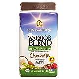 #3: Sunwarrior - Warrior Blend, Raw, Plant-Based, Organic Protein, Chocolate, 30 servings