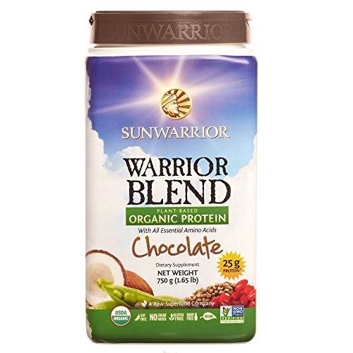 Sunwarrior - Warrior Blend, Raw, Plant Based, Organic Pro...