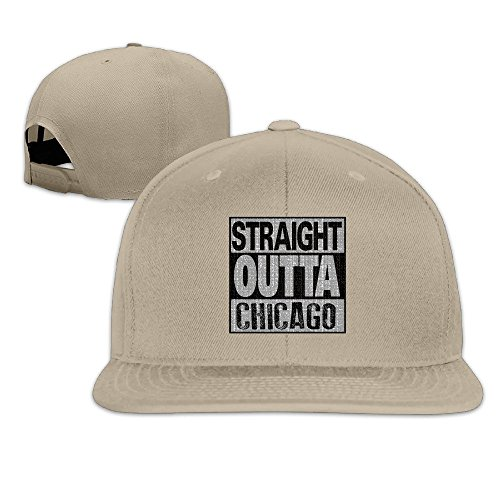 - Straight Outta Chicago Adjustable Baseball Cap Snapback Natural