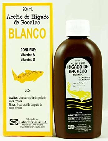 Aceite De Higado De Bacalao 200ml (Oleum Morrhuae), Vitamin A, Vitamin D