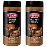 Weiman Leather Wipes 30 count, 2 pack