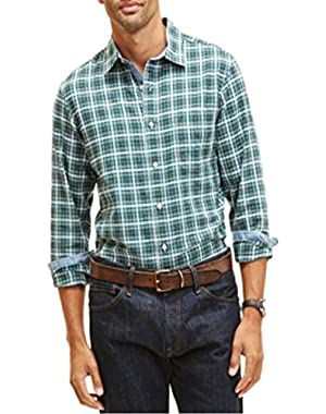 Oxford Plaid Shirt Penantteal Signs Small!