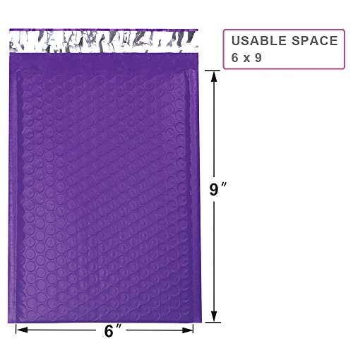 Mailer Plus #0 Purple Poly Bubble Mailers 6x10 Padded Envelopes 25pcs Photo #2