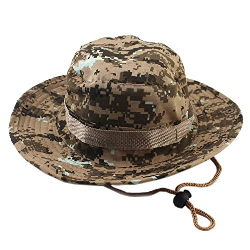 ocharzy Adjustable Boonie Hat for Outdoor Activities,Extreme Condition Sun Hat (Desert Camo, 1 Single - Refuge Desert