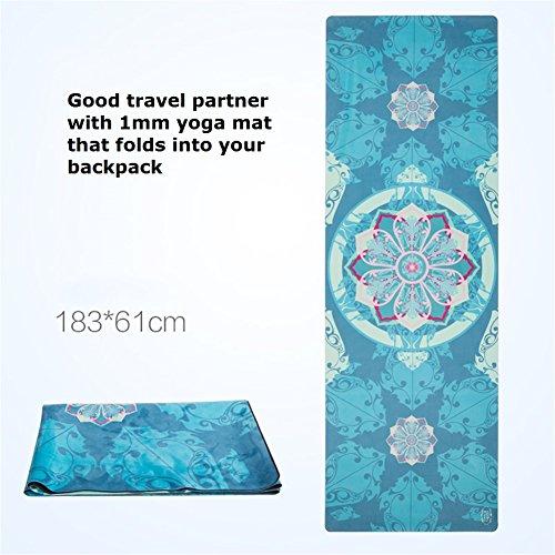 Ll Coeur Imprimé Serviette De Yoga Pliable Tapis De Voyage Gym