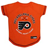 NHL Philadelphia Flyers Tee Shirt for Dogs & Cats, Medium. - are You a Hockey Fan? Let Your Pet be an NHL Fan Too!