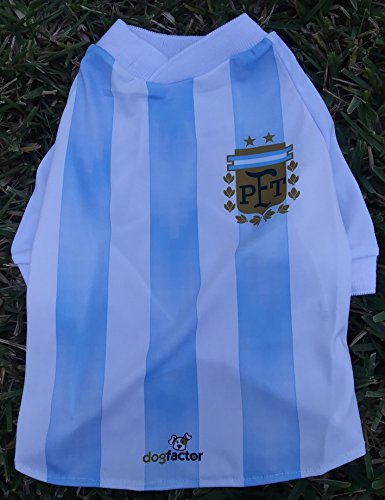 Amazon.com : Argentina DOG T-Shirt Worldcup Shirt camisetas remeras para perros selecciones futbol soccer (XS) : Pet Supplies